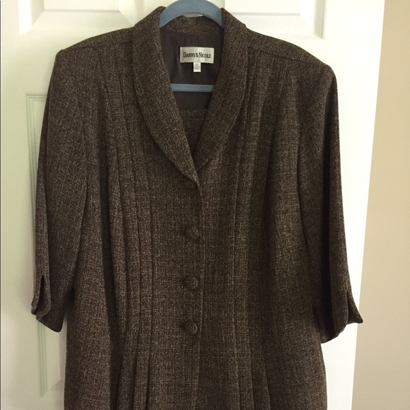 Danny & Nicole Dresses & Skirts - Women's Brown Skirt Suit